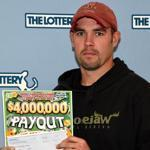 Kevin Norris, of Westminster, is the first winner of the ?$4,000,000 Payout? instant game.